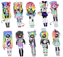 Taste the Rainbow || Xynthii adopts // closed by Tenshilove