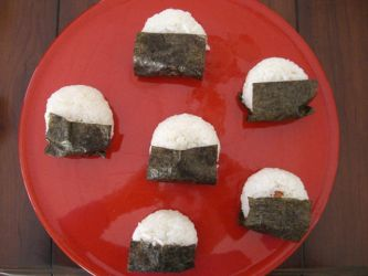 Rice Balls with Nori by DavisJes