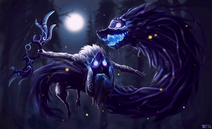 Kindred - League of Legends fanart by trinemusen1