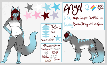 2018 Angel Anthro-Feral Ref by AngelTheShifter