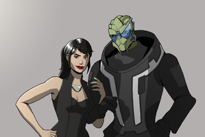 Shepard and Garrus for Finex by HelenKG
