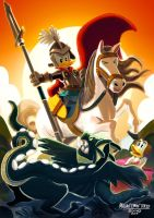 #Epicduck - San george and the dragon by 0-Emme-0