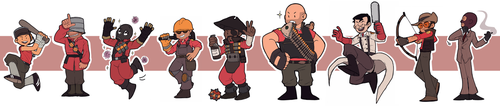 TF2 - The mercs - RED - by BloodyArchimedes