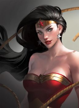 Wonder woman by sakimichan