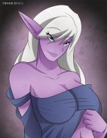 Night Elf Priestess Pin-up by Obhan