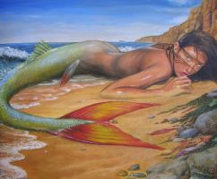 Beached Mermaid Fin by dashinvaine
