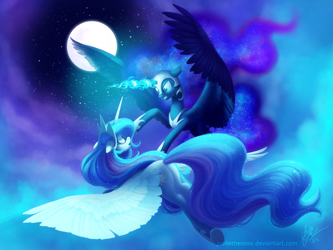 Celestial Battle by JoelletheNose
