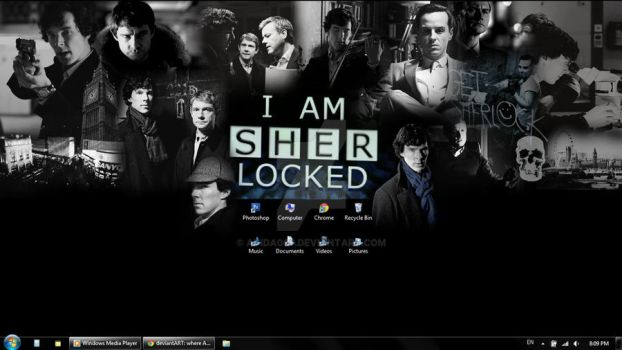 Sherlock wallpaper! by Adida007