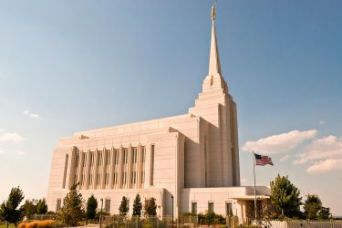 Mormon Temple, Rexburg Idaho USA by quintmckown