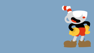 Cuphead minimalistic wallpaper by Shnouk15