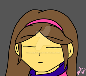 Mabel as Frisk ( fused character sketch ) by rajih0092