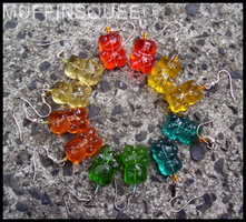 Gummy Bear Earrings by MuffinSquee