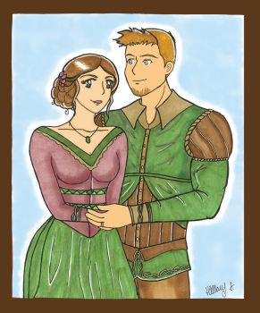 Cousland and Alistair by hillary86
