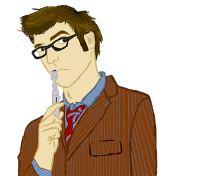 Ten and his Sonic screwdriver by PatMonahanFangirl