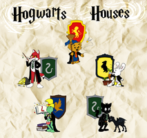 Bamse - Hogwarts Houses by Myrling