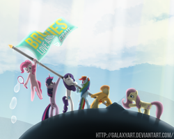 Flags of our ponies by Galaxyart