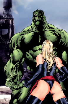Hulk Vs Ms Marvel by LokiFT
