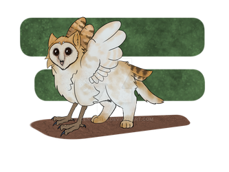 Baby Barn Owl Gryphon by Centripity