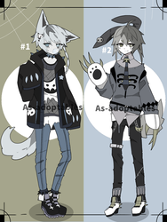 Gothic kemonomimi adoptables open by AS-Adoptables