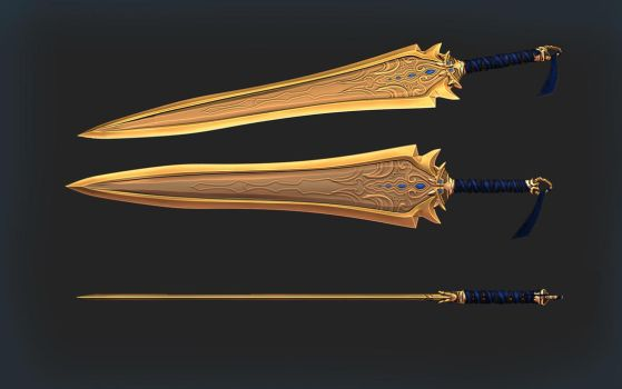 Sword of the golden thruth by DragonisAris