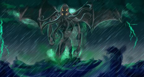 Cthulhu by noctetenebres
