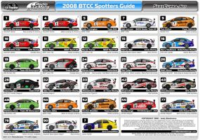 BTCC Spotters Guide -2008 by andyblackmoredesign