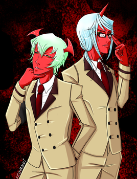 Male Scanty and Kneesocks by LeoVanni