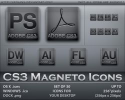 CS3 Magneto Icons by Vathanx
