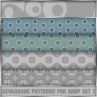 Cevkarade patterns for GIMP v1 by Cevkarade