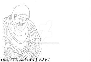 0543 - Army-Darkness - Soldier Sitting Praying by TheHOINK