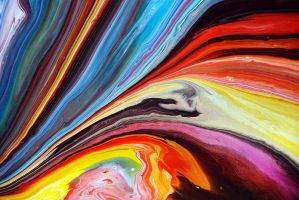 Colourful Rivers Of Paint by Mark-Chadwick