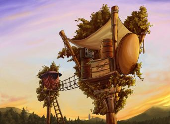 Treehouse by bleedinghitman