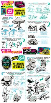 How to draw MUSHROOMS - Kickstarter BOOK is LIVE! by STUDIOBLINKTWICE