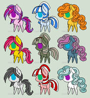 MLP Adopt Batch 1 [7/9 OPEN] by redroseadopts