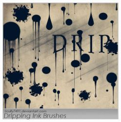 Dripping Ink Brushes by Scully7491