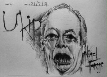 Nigel Farage  Ukip by Vennie