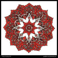 Ruby Dreams Mandala by Quaddles-Roost