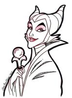 Feb- Sketch-A-Day 20: Malevolent Maleficent by Anamated