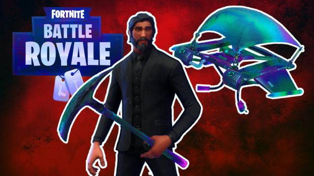 Fortnite John Wick w/ Glider by LordMaru4U