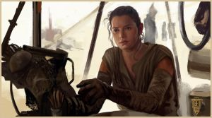 Rey Star wars The Force Awakens by emilus