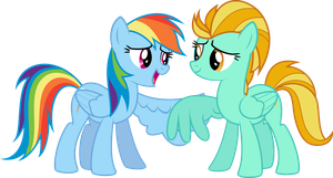 [Request] Rainbow Dash and Lightning Dust by VladimirMacHolzraum