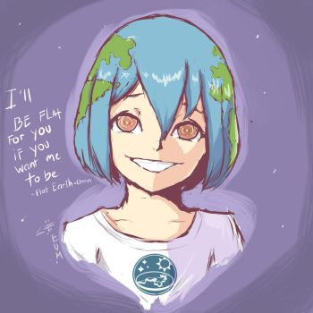 how to draw earth chan
