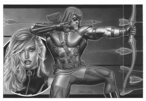 Black Canary And Green Arrow by petervale