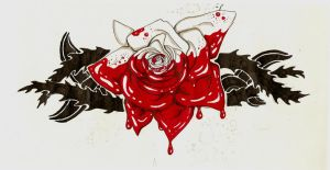 Painting the roses red TATTOO by SleepSearcher04
