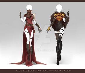(CLOSED) Adoptable Outfit Auction 215 - 216 by JawitReen