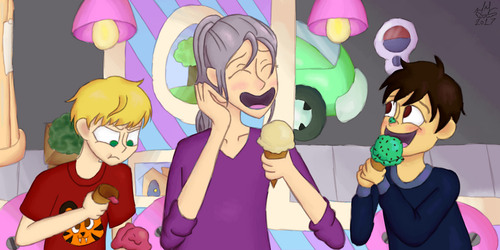 Yuri on Ice Cream by AngelAndChangeling