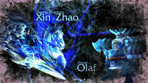 Warring Kingdoms Xin Zhao and Glacial Olaf by Xael-Design