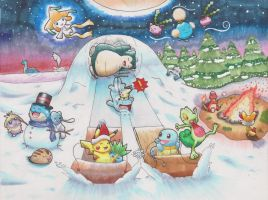 Pokemon winter gift art Final Copy