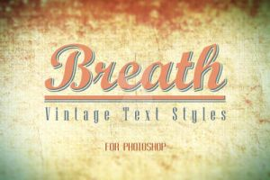 Breath - Vintage Text Styles by stefusilviu