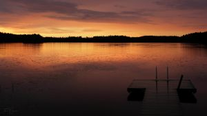 Summer Night Lake by Pajunen